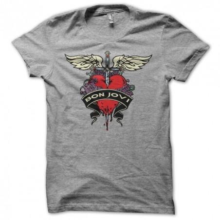 Tee shirt Bon Jovi colored gris sublimation