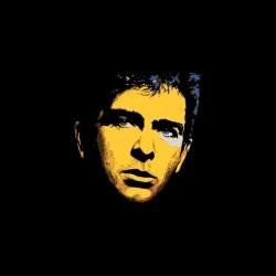 Peter Gabriel portrait black pop art sublimation t-shirt