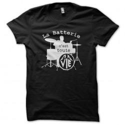 Tee shirt La batterie c'est...