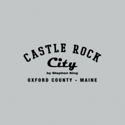 Tee shirt Castle Rock city by Stephen King US college gris sublimation