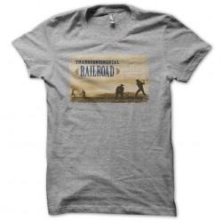 Transcontinental Railroad vintage gray sublimation t-shirt