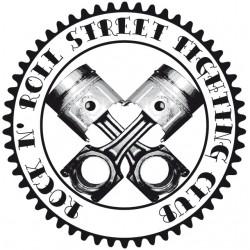 Rock N 'Roll Street Fighting Club Engine Piston Tee Shirt White Sublimation