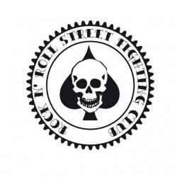 Tee Shirt of Peaks Crane Poker Rock N Roll Street Fighting Club White Sublimation