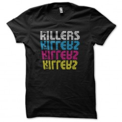 The Killers CMYK black sublimation t-shirt