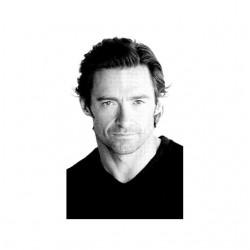 Hugh Jackman photo t-shirt in white sublimation