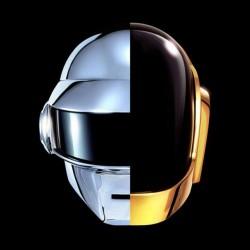 Daft Punk t-shirt new logo on black t-shirt sublimation