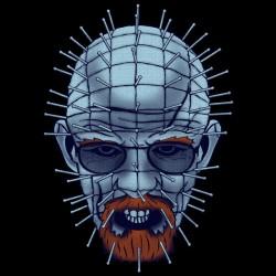 Breaking Bad Hellsenberg T-shirt Pinhead and Walter White Mashup black sublimation