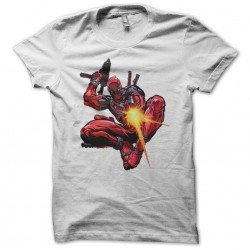 T-shirt video game shooter deadpool drawing white sublimation