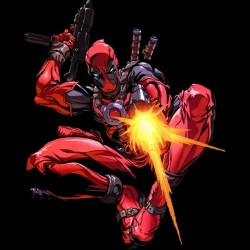 T-shirt video game shooter deadpool drawing black sublimation