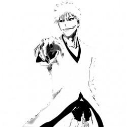 Tee shirt manga Hollow Ichigo bleach  sublimation