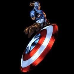 Tee shirt comic Captain america disque  sublimation