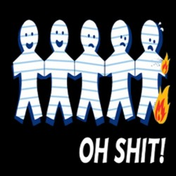 Tee Shirt on fire black...