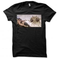Flying Spaghetti Monster Pastafarianism t-shirt on black sublimation tee-shirt