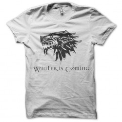 Tee Shirt game of thrones wolves stark white sublimation
