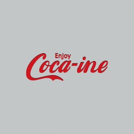 Tee shirt Enjoy Cocaine parodie coca cola gris sublimation