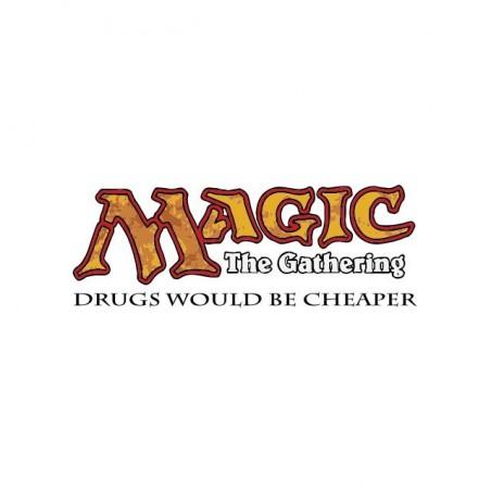 Magic The Gathering t-shirt parody drugs white sublimation