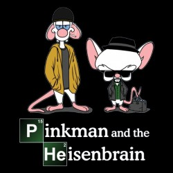 Breaking parody t-shirt bad mouse pinkman and heisenbrain black sublimation