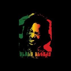 Alpha Blondy portrait t-shirt in black gradient sublimation