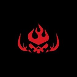 Gurren Lagann black sublimation symbol t-shirt