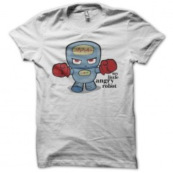 My Little Angry Robot white sublimation t-shirt