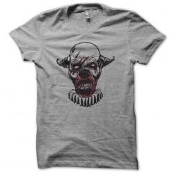 T-shirt clown zombie gray...