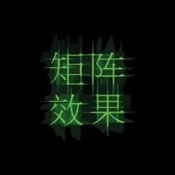 Tee shirt Idéogrammes chinois effet Matrix  sublimation