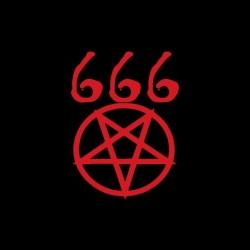 Tee shirt 666 pentagramme  sublimation