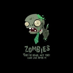 Tee shirt The zombies are dead but live with black sublimation