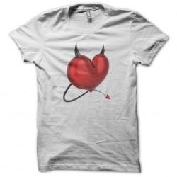 Devil heart white sublimation t-shirt