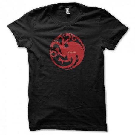 T-shirt The Iron Throne tee shirt Targaryen Game of thrones black sublimation