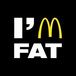 Tee Shirt Mac Donald's parodie I'm fat  sublimation