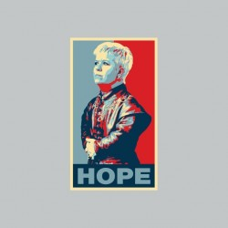 T-shirt Mimi Mathy parody Tyrion Lannister Hope Obama gray sublimation