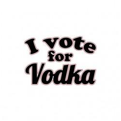 I vote for Vodka white sublimation t-shirt