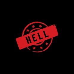 Hell hell black sublimation stamp t-shirt