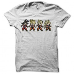Tee shirt Son Goku evolution pixel art  sublimation