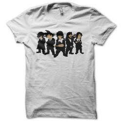 T-shirt Manga parody Reservoir Dogs white sublimation