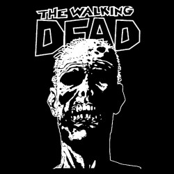 Tee shirt The Walking Dead  visage  sur  sublimation