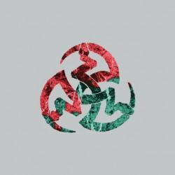 Vampire symbol 3 serpents gray sublimation t-shirt