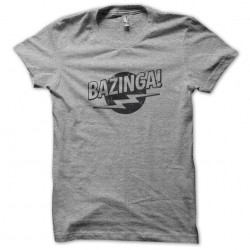 t-shirt Bazinga trash gray...