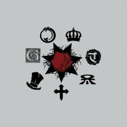 Vampire the Masquerade t-shirt symbols gray sublimation