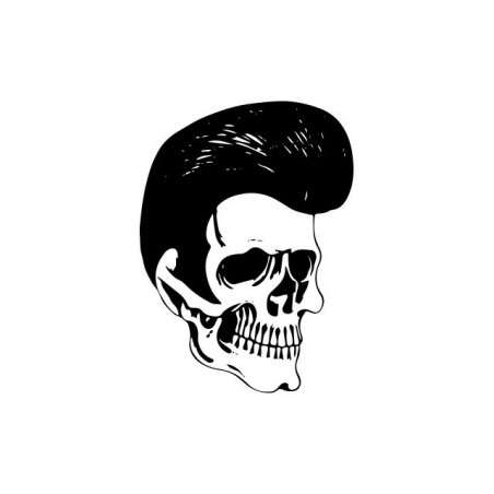 Tee shirt Elvis Presley skull  sublimation