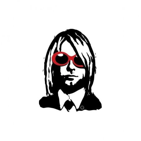 Tee shirt Kurt Cobain bicolor fan art  sublimation