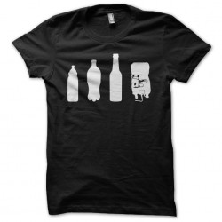 Evolution t-shirt of the drink in the black life sublimation