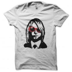 Kurt Cobain bicolor fan art white sublimation t-shirt