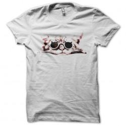 Fashion cat white sublimation t-shirt