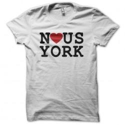 York White sublimation tee shirt