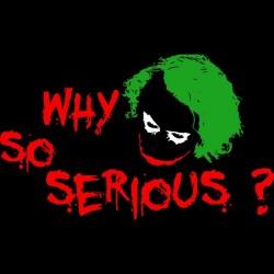 Tee shirt joker batman why so serious joker black  sublimation