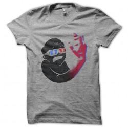 True 3D sublimation gray t-shirt