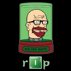 Tee shirt Walter White  parodie Futurama  sublimation