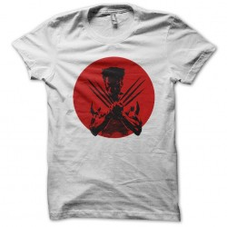 T-shirt wolverine in the rising sun white sublimation